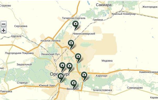 камеры-радары ГИБДД Оренбург